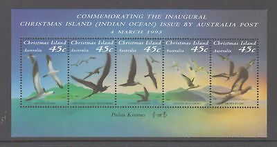 Christmas Island 1993 Commem. Inaugural Issue by Aust Post Mint. unhinged sheet.