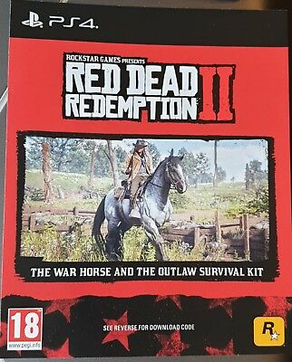 PS4 Red Dead Redemption 2 The War Horse and Outlaw Survival Kit DLC code NO GAME