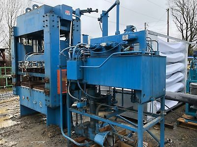 Used 150 Ton 4-Post Hydraulic Press and Power Unit