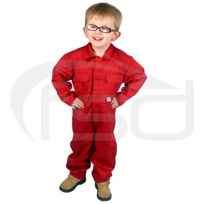 Red - New Kids / Childs Boilersuit / Overalls / Coveralls (Various Ages)