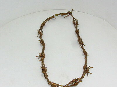 1 Leather barbed wire necklace.....Gold colored... 175.,   bracelet.....hat band