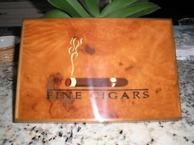 Cigar box- wood inlaid top- entirely handcrafted