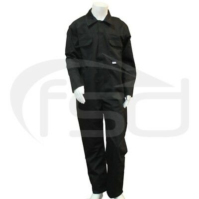 Black - New Kids / Childs Boilersuit / Overalls / Coveralls (Various Ages)