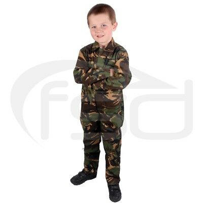 Camouflage - New Kids / Childs Boilersuit / Overalls / Coveralls (Various Ages)
