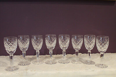 "Set Of 8 Waterford Crystal Comeragh 5-1/4"" Cordial Liqueur Glasses - Signed"