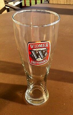 Widmer Brothers Tall Pint 16oz Beer Glass, Excelent Condition!  Bros