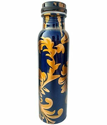 Copper Printed Bottle Water Health Benefits 950 Ml Leakproof For Health Benefit