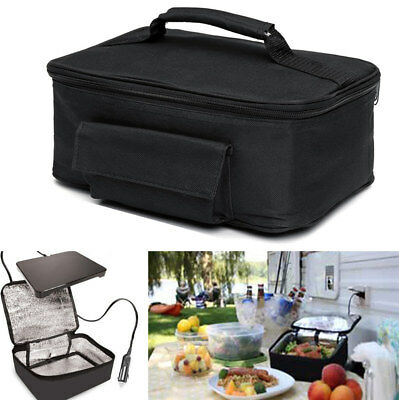 Picnic Camping Car Portable Electric Oven Hot Food Heating Bag Lunch Box Heater