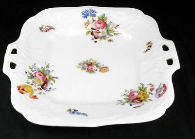 Coalport Sevres Group Plato de Tarta Vintage con Relieve No Trim Ver Foto