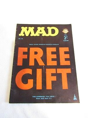 MAD Magazine - UK Issue No: 44 FREE GIFT LIE Cover UK EDITION FREE UK P+P