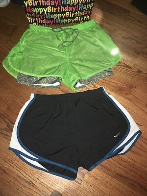 Nike Womens Dri Fit Tempo And Umbro 2 In 1 Running  Shorts Size Medium M New