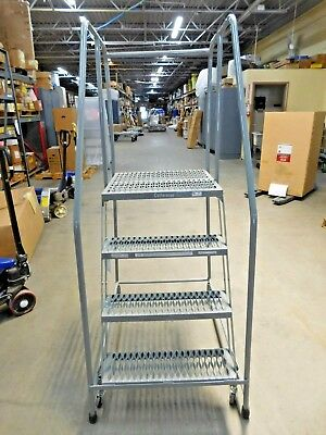 "Cotterman 4 Step Rolling Ladder 70""H 450lb Cap D0460090-23 PARTS/REPAIRS"