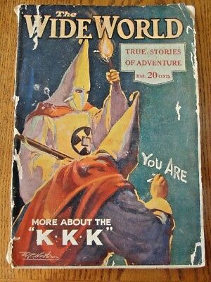 The Wide World Magazine with Cover Story of The Ku Klux Klan March 1922 Issue