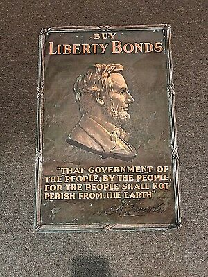 Original WWI Abe Lincoln Buy Liberty Bonds Poster