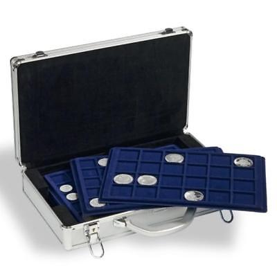 Aluminium Coin Case With 5 Assorted trays up 385 coins  worldwide postage
