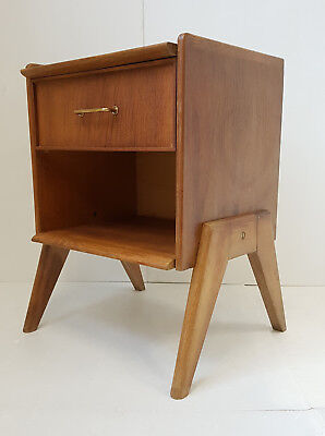 Furniture Extra Nightstand 1950 Out Of Oakwood Vintage Feet Compass 50S 50's