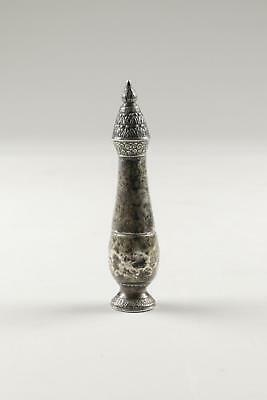 Fine Antique 19th Century Chinese Silver Lidded Bottle Shaped Trinket Jar