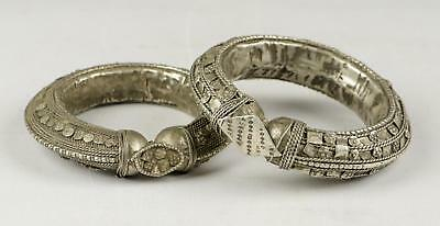 Pair Of Fine 19/20C Middle Eastern Arabian Peninsular Filigree Sliver Arm Bands