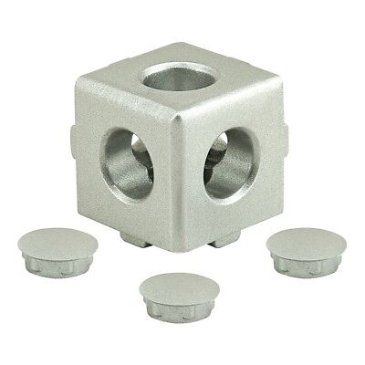 80/20 Inc T-Slot Aluminum 3 Way Light Squared Connector 10, 25 Series #14135 N
