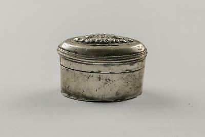 Fine Antique 19thC SE Asian Malay Peninsular Silver Oval Betel Nut Lime Box#3