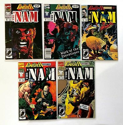 The Nam #52, 53, 67, 68, 69 (1991, Marvel) NM, The Punisher invades Vietnam