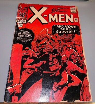 The Uncanny X-Men #17 Marvel Silver Age Stan Lee Jack Kirby Magneto Cameo