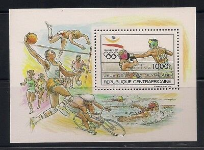 Central Africa 1990 Sc #969 Olympic S/s MNH (40702)