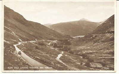 Postcard RPPC Scotland Glen Ogle looking towards Ben Vorlich unposted