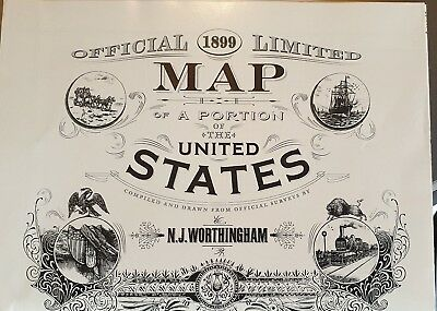 Red Dead Redemption 2 Special Edition Map of America Rare XBOX ONE/PS4/PC