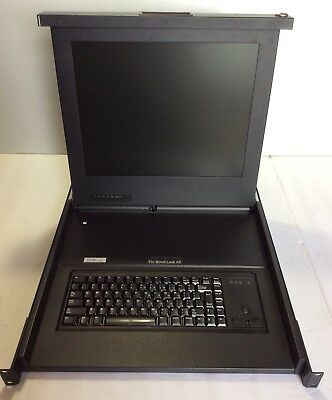 "317"" LCD KVM Drawer 8 Port PS/2 Rack Mount LCD Display Server Monitor w/Keyboard"