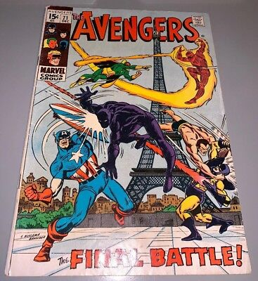 Avengers #71 1st App Invaders Buscema Marvel Silver Age KEY Comic Black Panther