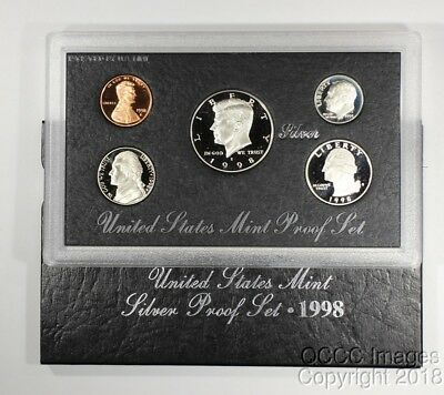 1998 San Francisco Silver Proof Set / OGP Packaging / No Stickers or Writing