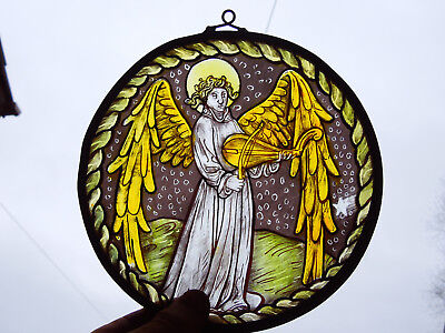 Interesting Stained Glass Christmas Xmas Angel Medieval Victorian Style