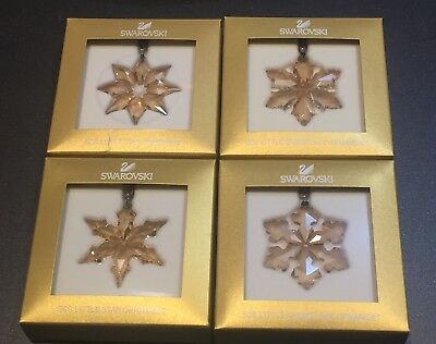 SWAROVSKI 2013, 2014, 2015, 2016 SCS gold member only LITTLE star ornaments NEW!