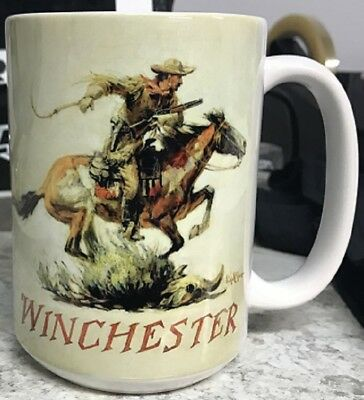 Winchester Vintage Adverstisment Coffee Mug 15 oz Made In U.S.A.