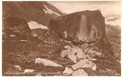Postcard RPPC Scotland Shelter Stone in Cairngorm Mountains unposted