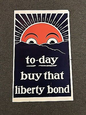 Original WWI To-Day Buy That Liberty Loan Poster