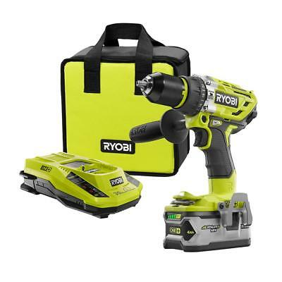 New - Ryobi 18-Volt ONE+ Brushless Hammer Drill Kit w/ Battery And Charger