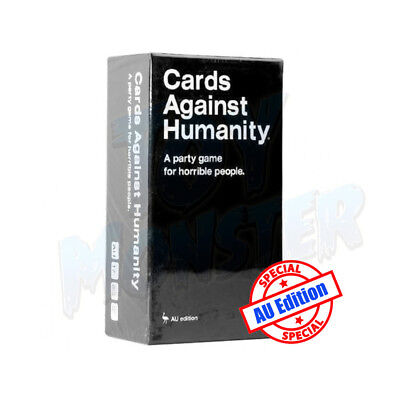 New AU Edition Cards Against Humanity Base + Expansion 1-6 Party Card Game
