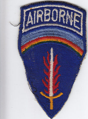 Original 1950s-1960s  US Army 577th Quartermaster Co (Abn) Patch - German-made