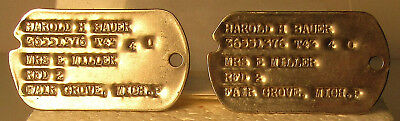 Wwii Pair Next Of Kin Dog Tags