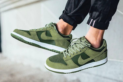 Nike Dunk Low UK Size 7 EUR 41 Men's Trainers Shoes Sneakers Retro Green New