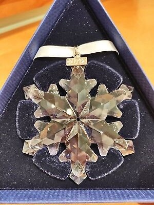 Swarovski Annual Edition 2012 Crystal Snowflake Ornament Christmas - New In Box