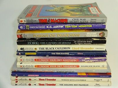 Mixed Lot of 12 Vintage Choose Your Own Adventure & Similar Game books CYOA Auc2