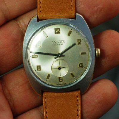 Vintage swiss made watch VENUS SUPER cal.FHF 82 working condition