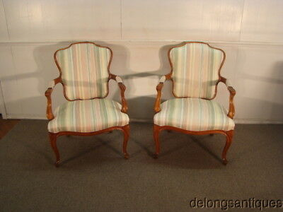 47343:Hickory Chair Pair of French Style Chairs