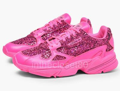 save off 5bcce 4752d Adidas Falcon Shock Pink Out Loud Glittery Shiny Chunky Bulky Womens BD8077