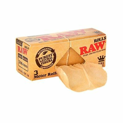 RAW Classic ROLLS King Size - 1 PACK - Natural Unrefined Gum 3 Meters Roll