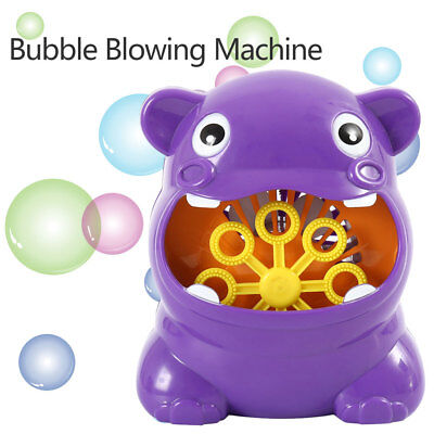 Automatic Bubble Machine for kids Durable Bubble Blower Battery Outdoor Toy AU