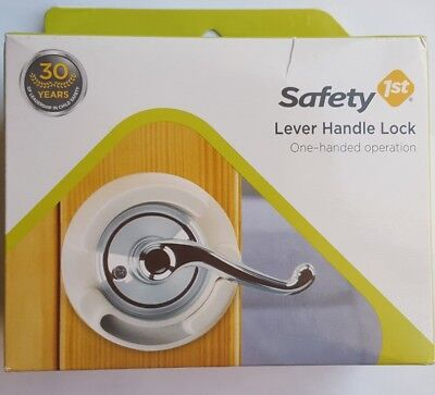 Set of 2 Safety 1st Lever Handle Baby Proof Child Lock One Hand Use 48400 NIB